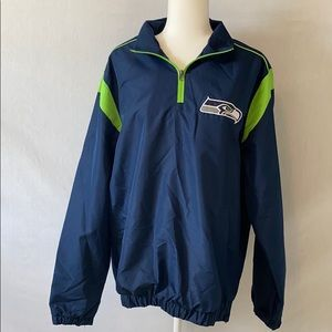 Men's Seahawks Quarter Zip up